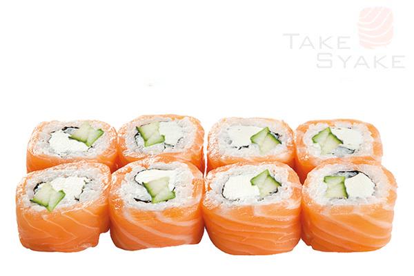 Мега фила ролл (280г). Доставка суши, доставка лапши wok, доставка бургеров. Киев, Борщаговка. Take