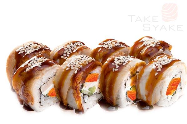 Фуджи ролл. Доставка суши, доставка лапши wok, доставка бургеров. Киев, Борщаговка. Take Syake