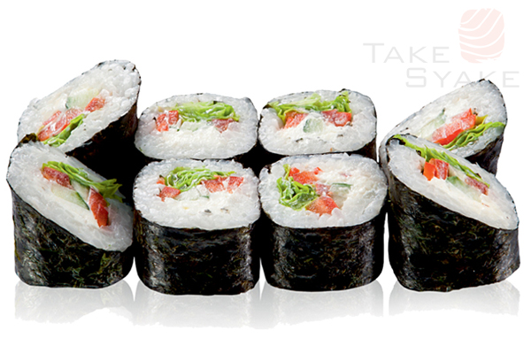 Греческий ролл. Доставка суши, доставка лапши wok, доставка бургеров. Киев, Борщаговка. Take Syake