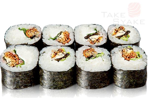 Унаги гурме ролл. Доставка суши, доставка лапши wok, доставка бургеров. Киев, Борщаговка. Take Syake