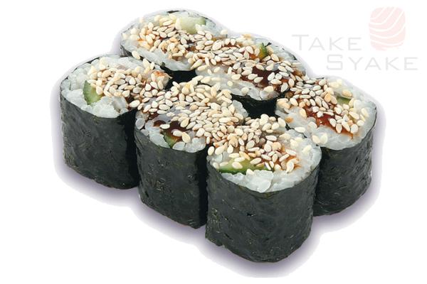 Угорь маки. Доставка суши, доставка лапши wok, доставка бургеров. Киев, Борщаговка. Take Syake