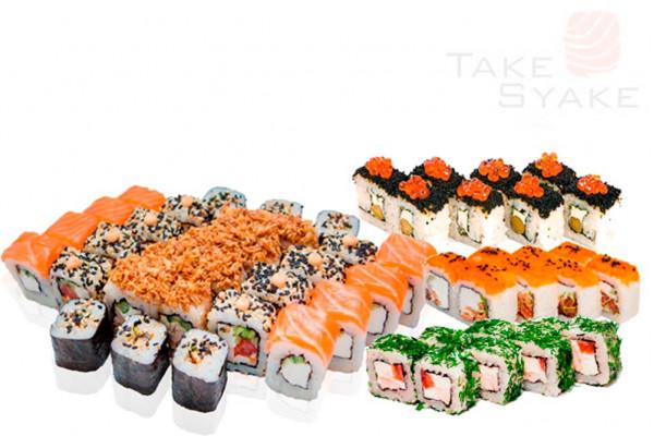 Азия сет (1500г) 56шт Доставка суши сет в Киев, Заказать набор суши, Софиевская Борщаговка