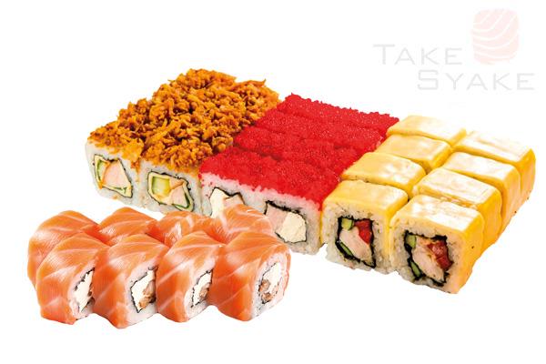 Гурман сет (885г) Доставка суши, доставка лапши wok, доставка бургеров. Киев, Борщаговка. Take Syake