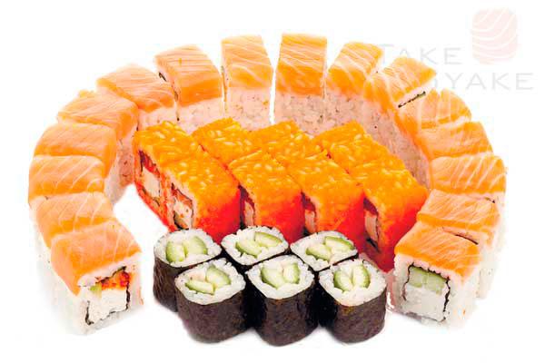 Каста сет. Доставка суши, доставка лапши wok, доставка бургеров. Киев, Борщаговка. Take Syake