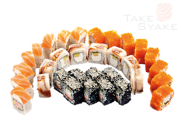 Нагасаки сет (860г). Доставка суши, доставка лапши wok, доставка бургеров. Киев, Борщаговка. Take Sy