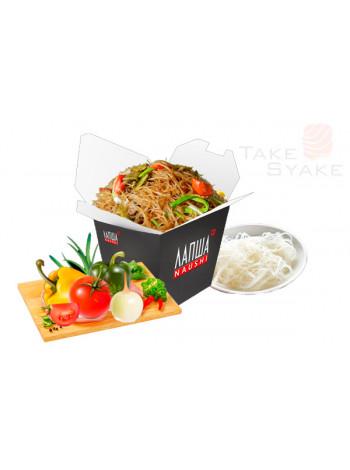 Фунчоза с овощами (320г). Доставка суши, доставка лапши wok, доставка бургеров. Киев, Борщаговка. Ta