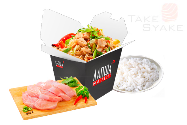 Тяхан с курицей (350г). Доставка суши, доставка лапши wok, доставка бургеров. Киев, Борщаговка. Take
