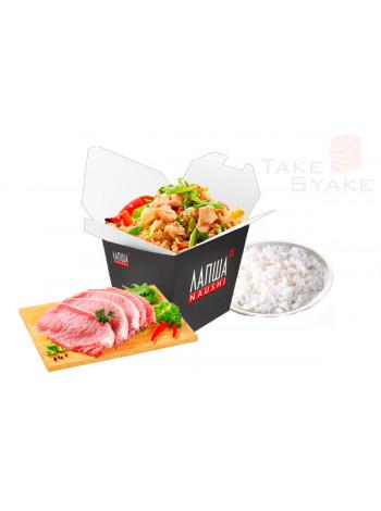 Тяхан со свининой (350г). Доставка суши, доставка лапши wok, доставка бургеров. Киев, Борщаговка. Ta
