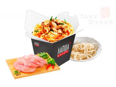 Удон с курицей (350г). Доставка суши, доставка лапши wok, доставка бургеров. Киев, Борщаговка. Take